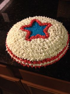 Fourth of July patriotic cake