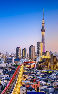 20 Incredible Landmarks in Japan. A landmark of Japan's dominance in the television broadcasting era, Tokyo Skytree is the tallest tower in the world (a tower has usable floor space for less than half its height) but isn't classified as a skyscraper. Japon Tokyo, Tokyo Skytree, Places Around The World, Travel Around The World, Around The Worlds, Tokyo Travel, Asia Travel, Monuments, Tokyo City View