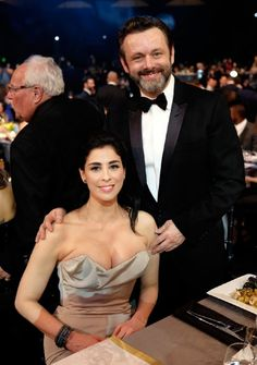 2016 SAG Awards: Show ~~~~Michael Sheen and Sarah Silverman