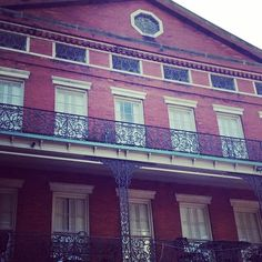 French Quarter - New Orleans; I just love the iron balconies of this building