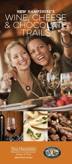 Experience New Hampshire by visiting wineries, cheese makers and chocolatiers! Follow the trails around the state sampling these fabulous products for a one of a kind vacation experience!