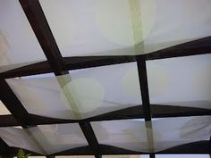 Diy simple retractable shade cloth use a wire cable set for Ikea outdoor curtains