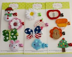 Holiday Hair Clip Gift Set by mylittlepixies. The fishy is so cute!