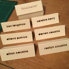 Laser Cut place cards Table Cards, Laser Cutting, Place Cards, Place Card