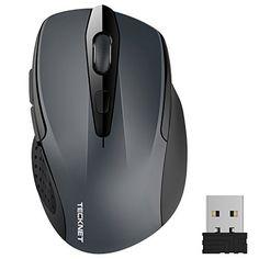 Coco Digital-Mouse Wireless USB 2,4 GHz sottile per Computer Notebook-ottica, colore: rosa Color: black, white, blue,pink. Size: 11.2cm x 5.8cm x 2cm.