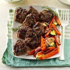 Rosemary-Thyme Lamb Chops Recipe -My father loves lamb, so I make this dish whenever he visits. It's the perfect main course for holidays or get-togethers.—Kristina Mitchell, Clearwater, Florida.