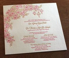 Indian and Vietnamese #wedding #invitation set. Mai | Invitations by Ajalon | www.invitationsbyajalon.com