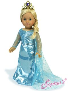 BEAUTIFUL ICE PRINCESS SET FOR AMERICAN GIRL AND OTHER 18