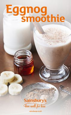 This twist on the traditional Christmas drink is a tasty treat that's perfect for a cosy Christmas Eve. This easy smoothie is gluten free and vegetarian friendly and takes just 5 minutes to make. Top Sainsury's tip: freeze your bananas when they are at their ripest. This will give your smoothie a natural sweetness.