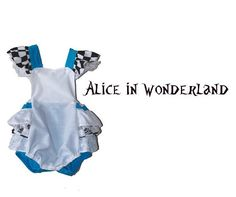 Infant Alice in Wonderland Outfit Baby Romper Little by HausofHalo
