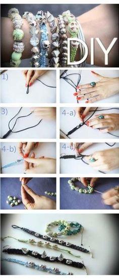 DIY SKULL BRACELETS by celeste.maxson