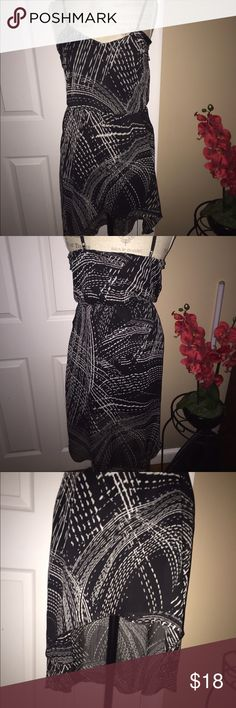 Express High Low Dress Like new, High Low hem from Express, Chiffon-like material, Elastic waist, Thin straps, Belt not included Express Dresses High Low