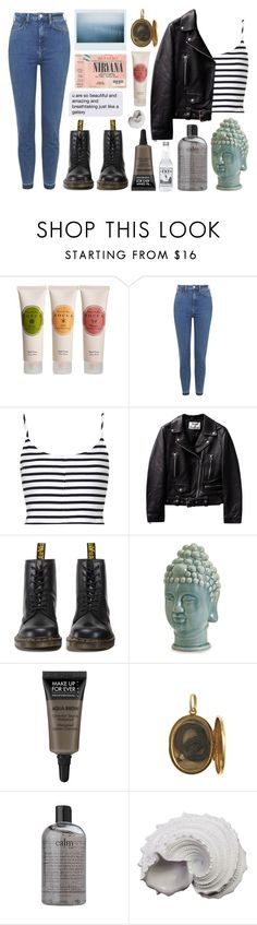 """""""untitled"""" by jet-black-heart555 ❤ liked on Polyvore featuring Tocca, Topshop, Dr. Martens, Home Decorators Collection, MAKE UP FOR EVER, philosophy and Urban Trends Collection"""