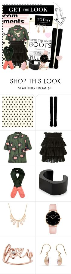 """""""Over the Knee Boots"""" by b-rex ❤ liked on Polyvore featuring Stuart Weitzman, Orla Kiely, Isabel Marant, Shrimps, NOVICA, Rivka Friedman, Levi's, Lucifer Vir Honestus, GetTheLook and Boots"""