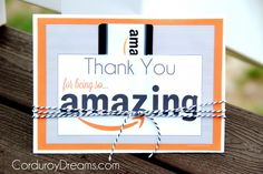 Thank You with Amazon Gift Card {free printable download} | The Creative MomThe Creative Mom