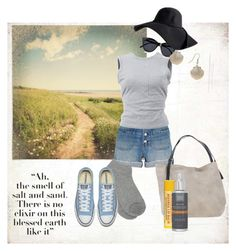 """Summer days"" by ruthiefa ❤ liked on Polyvore featuring BasicGrey, Madewell, T By Alexander Wang, M&Co, Le Specs, Miss Selfridge, Manila Grace and Paula's Choice"