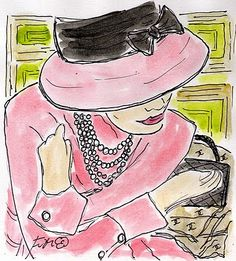 Fifi Flowers Painting du Jour Gallery: Coco Chanel