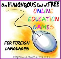 One Humongous List of Free Online Education Games for Language Arts - Cornerstone Confessions # online educational games One Humongous List of Free Online Education Games for Language Arts Music Education Activities, Teaching Resources, Science Games, Physical Education, Physical Science, Math Education, Bible Activities, Math Games, Physical Activities