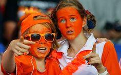 Dutch soccer fans #orange #Holland