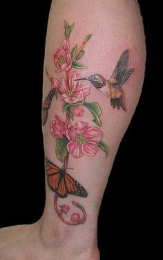 TATTOO: butterflies & flowers