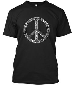 doodle art peace symbol t-shirt for men and women (tanks tops) for