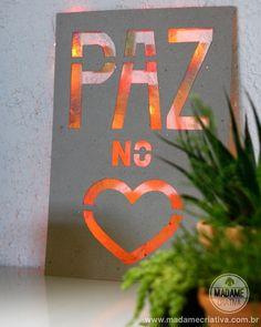 Como fazer um letreiro luminoso -  Passo a passo com fotos - How make an illuminated sign - DIY tutorial  - Madame Criativa - www.madamecriativa.com.br