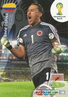 Card 77: David Ospina - Panini FIFA World Cup Brazil 2014. Adrenalyn XL - laststicker.com