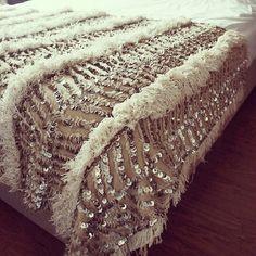 Sequin bedspread