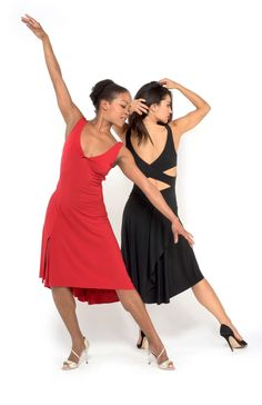 D1 The criss cross top and draped back skirt tango dress 9