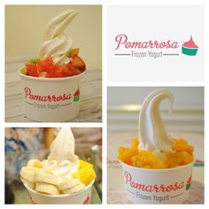 Elige la fruta que más te guste para deleitarla con el mejor sabor dehelado de yogurt. ¡Te esperamos! #dessert #pomarrosa #pomarrosalover