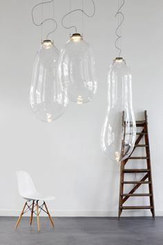 Big Bubble pendant lights by Alex de Witte.