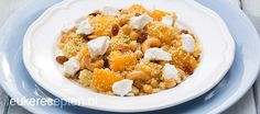 Couscous met perzik en cashewnoten Camping Meals, Vegan Vegetarian, Quinoa, Oatmeal, Salads, Lunch, Healthy Recipes, Baking, Breakfast