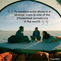 """""""To awaken quite alone in a strange town is one of the pleasantest sensations in the world."""" Freya Stark  #quote #motivational #travel"""