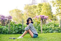 Plaid / Gingham Button Down Shirt and Shorts - model Photograph