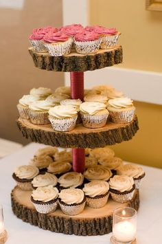 Rustic Cottage wedding - Love the cakestand!
