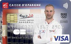 Envie d'avoir une carte bancaire à l'effigie de Thierry Omeyer ? Rendez-vous sur www.caisse-epargne.fr/EspritJO pour la commander ou adressez-vous directement à votre conseiller !