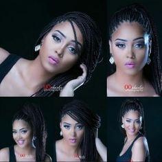 Meet D'Banj's wife 25 year old Didi Kilgrow (photos) Big Braids, Braids For Kids, Ghana Braid Styles, Ghana Braids, Cornrow Styles For Girls, Braided Cornrow Hairstyles, Chunky Twists, New Years Wedding, Twist Styles
