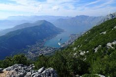 Montenegro: View over the Bay of Kotor from Mt Lovćen. Looks like a great road trip!