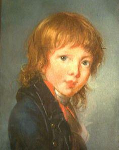 The Athenaeum - Portrait of a Boy Élisabeth Vigée-Lebrun - 1801 Drawing - pastel