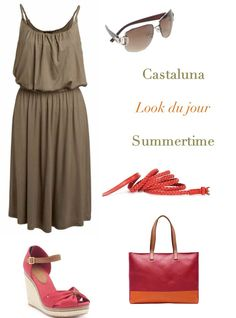 A perfect outfit for summer time. I like this mix of colors - Perfect for a plus size woman