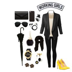 """""""Serious Business"""" by mia-nicole-fashion on Polyvore featuring 2Me Style, Wolford, Reiss, Jupe de Abby, Balenciaga, Sennheiser, Furla, Working Girls, MANGO and Gucci"""