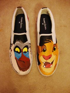 Lion King Hand Painted Shoes. $120.00, via Etsy.