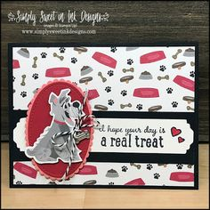 Dog Cards Handmade, Handmade Gift Tags, Pet Sympathy Cards, Cat Cards, Stamping Up Cards, Fathers Day Cards, Animal Cards, Cool Pets, Card Tags