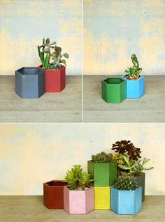 these would be great at work......scroll down to see hanging planter, so pretty.