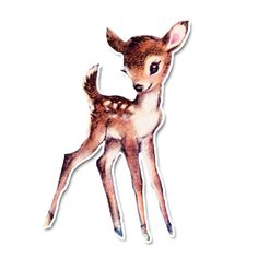 Vintage Diecut - Fern the Fawn [VD-40NW08] : Pretty Little Studio, Simple Vintage Whimsical fun Scrapbooking Supplies