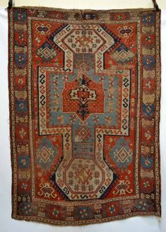 Lot 395 - Sewan Kazak rug, south west Caucasus, second half 19th century, 7ft. 8in. x 5ft. 5in. Estimate: 500 GBP - 700 GBP
