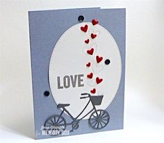 The new Flicker Hearts and Stitched Oval Layers are a great combination - just add the classic Brand New Bicycle for a quick Valentine card.