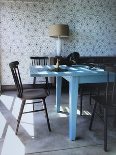 Brian Paquette Interiors – RUSH LOFT - blue table