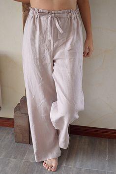 6f3f8391285 Linen Pajamas Trousers Women s Linen pants Wood от pureWHITEspa Dress  Trousers