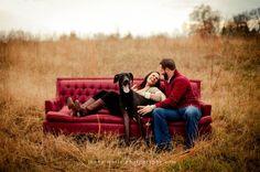 Couple #Christmas #portrait with #dog. ... | Photography Ideas